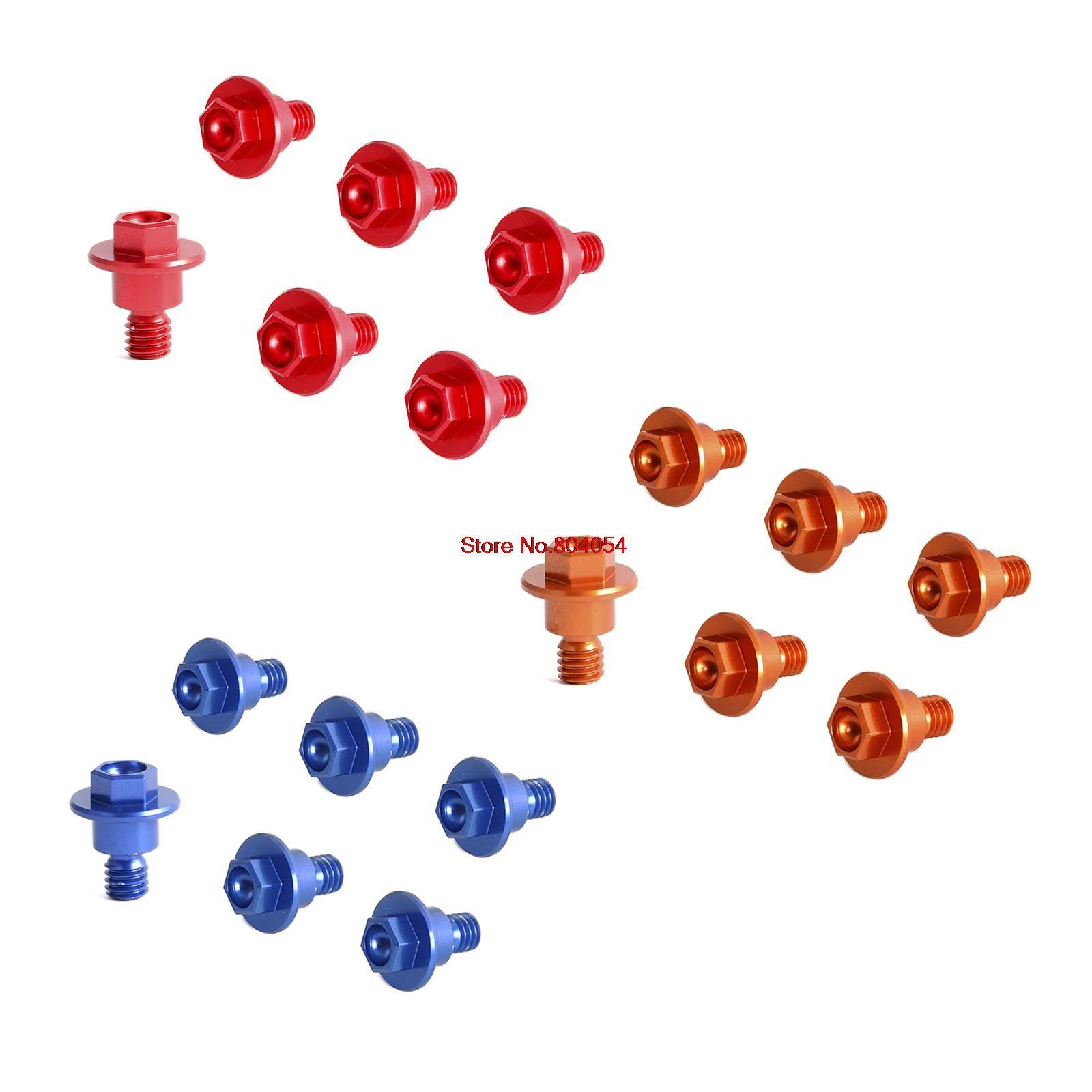 6 pièces Boulon Protection de Fourche Ensemble Pour KTM 65 85 SX 03-15 125 200 250 300 350 400 450 525 530 SX SXF XC XCF EXC EXCF XCW XCFW 2000-2016