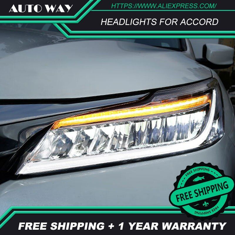 Auto Styling Kopf Lampe fall für Honda Accord Scheinwerfer 2016 2017 LED Honda Accord Scheinwerfer LED Option Engel Auge Bi LED