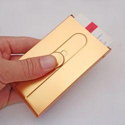 Tuhao or carte boîte hommes d'affaires automatique carte de visite titulaire creative push-style de femmes cardcase Nom carte boîte