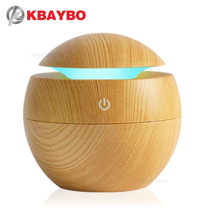 USB Aroma Essential Oil Diffuser Ultrasonic Cool Mist Humidifier Air Purifier 7 Color <font><b>Change</b></font> LED Night light for Office Home