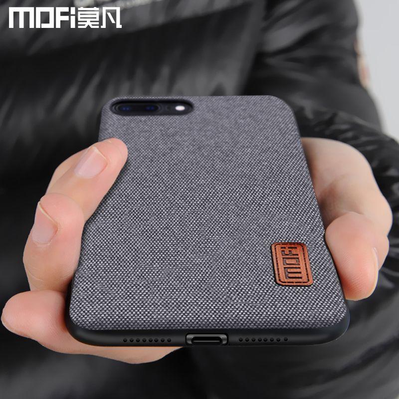 Cas MOFi pour iphone8 iphone 8 plus couvercle du boîtier silicone bord antichoc hommes d'affaires couverture arrière 8 P 7 plus cas pour iphone 7 cas