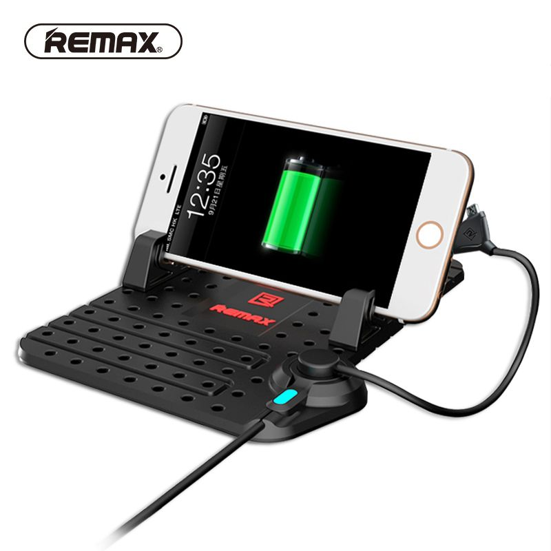 REMAX Car Mobile Phone Holder Adjustable Bracket GPS charging Car Dashboard Holder With Magnetic USB data Cable for Phone