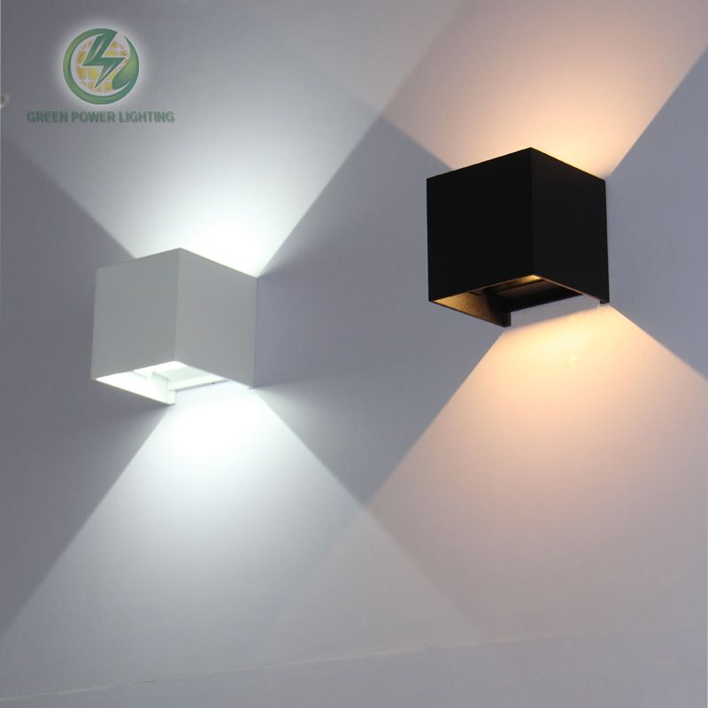 IP65 cube adjustable surface mounted outdoor led lighting,led outdoor wall light, up <font><b>down</b></font> led wall lamp