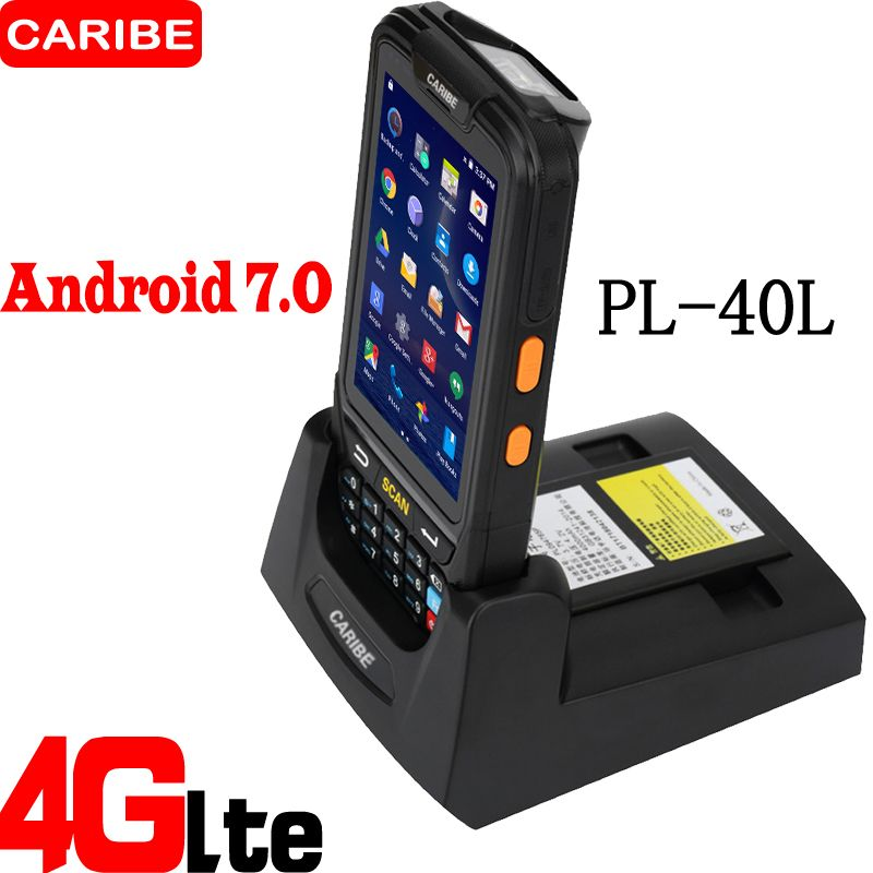 CARIBE Android Scanner de codes à barres Terminal portable PDA dernière conception avec capacité de batterie 4000mA