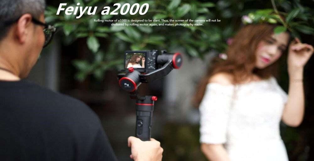 FeiyuTech a2000 3-Axis Gimbal for Mirrorless, DSLR Cameras with Portable Bag