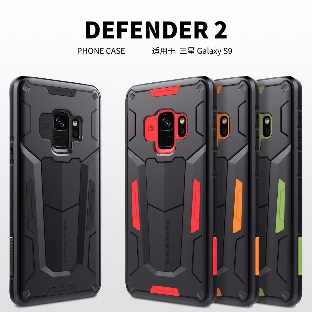 Shockproof Armour Hard Case for Samsung Galaxy S9 /S9 Plus NILLKIN Defender II Back Cover case For Samsung S9