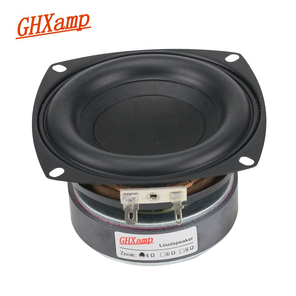 GHXAMP 1PC 4 inch 40W Subwoofer Speaker Woofer High Power Long Stroke BASS Home Theater For 2.1 Subwoofer unit Loudspeakers DIY
