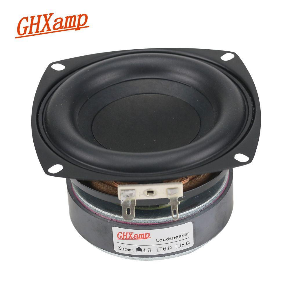 GHXAMP 1PC 4 pouces 40W Subwoofer haut-parleur Woofer haute puissance longue course basse Home cinéma pour 2.1 caisson de basses unité haut-parleurs bricolage
