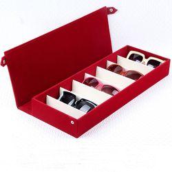 Estuche para gafas de alta calidad 8 rejillas de ranura gafas de sol Almacenamiento de gafas rejilla soporte caja soporte organizador de gafas