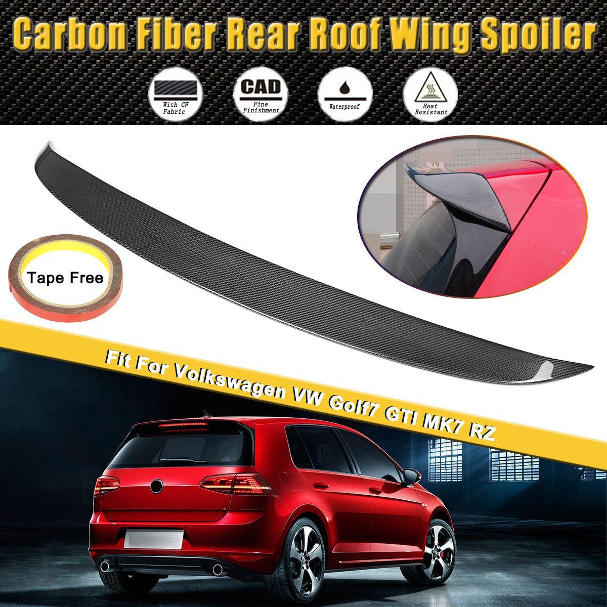 Full Real Carbon Fiber Spoiler Rear Roof Wing Spoiler Lip Fit For Volkswagen for VW Golf7 MK7 GTI 2014-2017 Car Styling