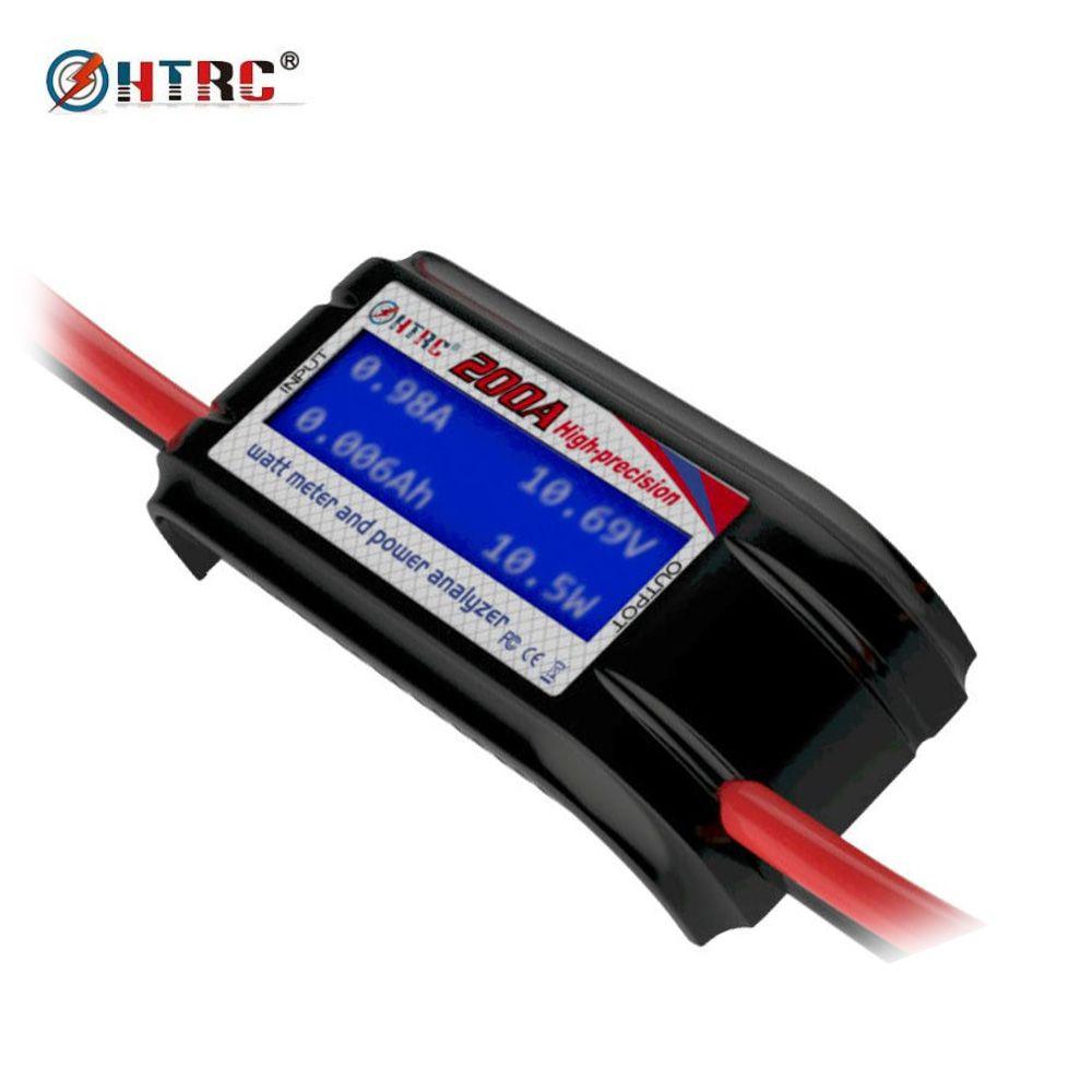 HTRC 60 V 200A Haute Précision Wattmètre Tension Amp Power Meter Analyzer 8 Jauge Fil