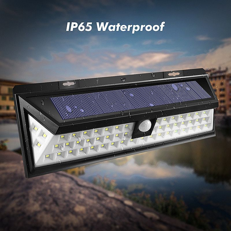 Mising 54 LED Solar Wall Light 2835 SMD White Solar Power Outdoor Garden Light PIR Motion Sensor Pathway Wall Lamp Waterproof