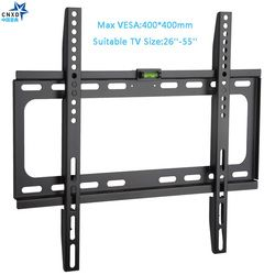Fixed TV Wall Mount Universal 50KG TV Wall Mount Bracket Fixed Flat Panel TV Frame for 26-55 Inch LCD LED Monitor Flat Panel