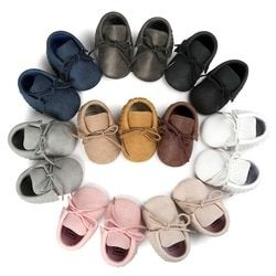 2017 Autumn/Spring Baby Shoes Newborn Boys Girls PU Leather Moccasins Sequin First Walkers Baby Shoes 0-18M S2