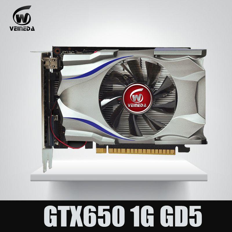 GTX650 GPU Veineda grafikkarte GTX650 1G 128Bit gtx grafiken vga spiel karte 1059/5000 MHz Stärker als HD6570 für nVIDIA Gamings