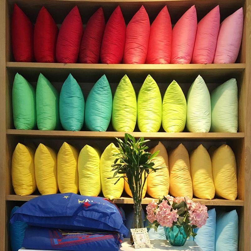 Simple colores sólidos Algodón puro decorativo Fundas de colchón/al por mayor logotipo personalizado impreso Mantas Almohadas Tapas regalos de empresa