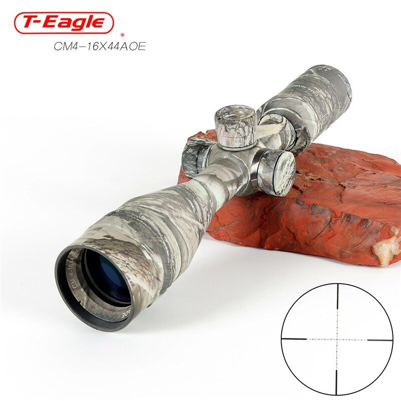Hot new T-Eagle CM4-16x44AOE Tactical RiflesScope AirRifle sniper Optics Rifle Scopes sight camouflage HD R/G Hunting Scopes