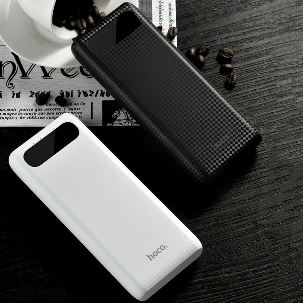 HOCO B20A energienbank 20000 mAh Dual USB Power 18650 Batterie Tragbares Ladegerät Externe Batteriebank für Handys