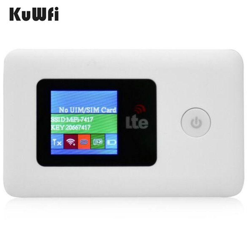 Portable Unlocked Mobile 4G 3G Modem LTE Mini WiFi Router Pocket Wireless Hotspot Power Bank with SIM Card Slot 2100mAh Battery