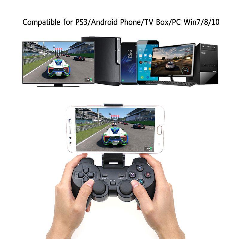 Android Sans Fil Gamepad Pour Android Téléphone/PC/PS3/TV Boîte Joystick 2.4g USB Joypad Contrôleur de Jeu pour Xiaomi Téléphone Intelligent