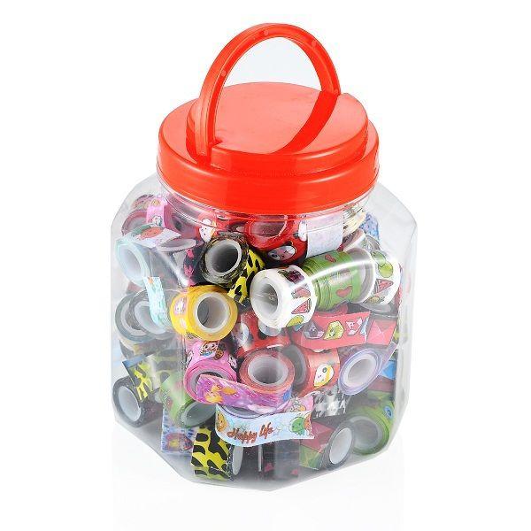 Venta caliente una lata de mini kawaii decoración cinta de dibujos animados cinta adhesiva de opp scrabooking