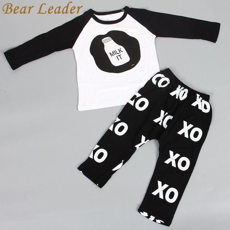Bear Leader 2018 Hot Spring Baby Clothing Sets Boys Girls Kids Brand Sport Suit Tracksuits 2pcs Cotton Long Sleeve Shirt+pants