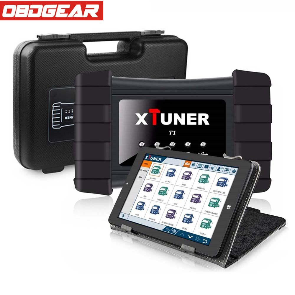 Newest V8.7 XTUNER T1 HD Heavy Duty Trucks Auto Diagnostic Tool With Truck Airbag ABS DPF EGR Reset+ 8' WIN10 OBD 2 Autoscaner