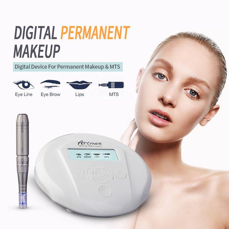 Hhigh quality Permanent Makeup machine Artmex V6 eyebrow Lip Rotary Pen V6 Tattoo Machine MTS PMU System with 10pc tattoo needle