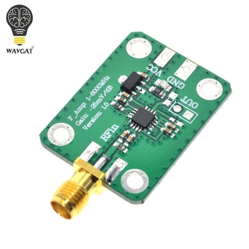 WAVGAT 1-8000 MHz AD8318 RF Logarithmische Detektor 70dB RSSI Messung Leistungsmesser