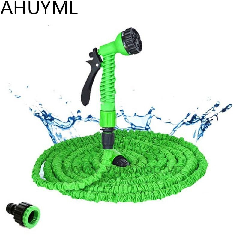 25FT-250FT Garden Hose Expandable Magic Flexible Water Hose EU Hose Plastic Hoses Pipe With Spray Gun To Watering Car Wash Spray