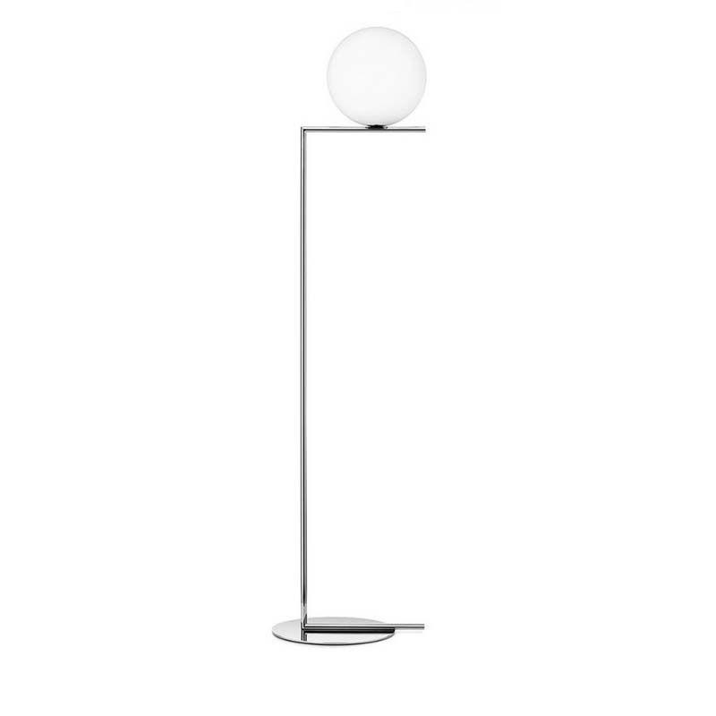 Dia.30cm pantalla mensaje Simple Moderna Lámpara De Piso de cristal de gran tamaño 185 cm chorme chapado cuerpo Creativo lámpara de Mesa de Noche E27 bombilla