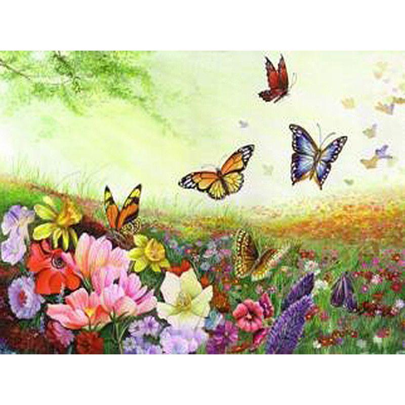 Sans cadre papillon animaux peinture à la main par numéros acrylique peint à la main peinture à l'huile sur toile cadeau Unique pour œuvre à la maison