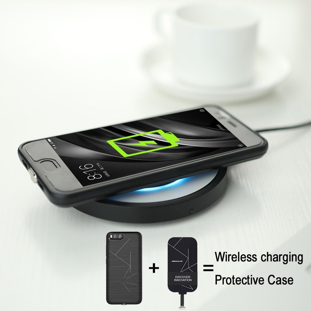 For xiaomi 6 Mi6 case original NILLKIN QI standard wireless charging Magic Case soft TPU protective case free shipping