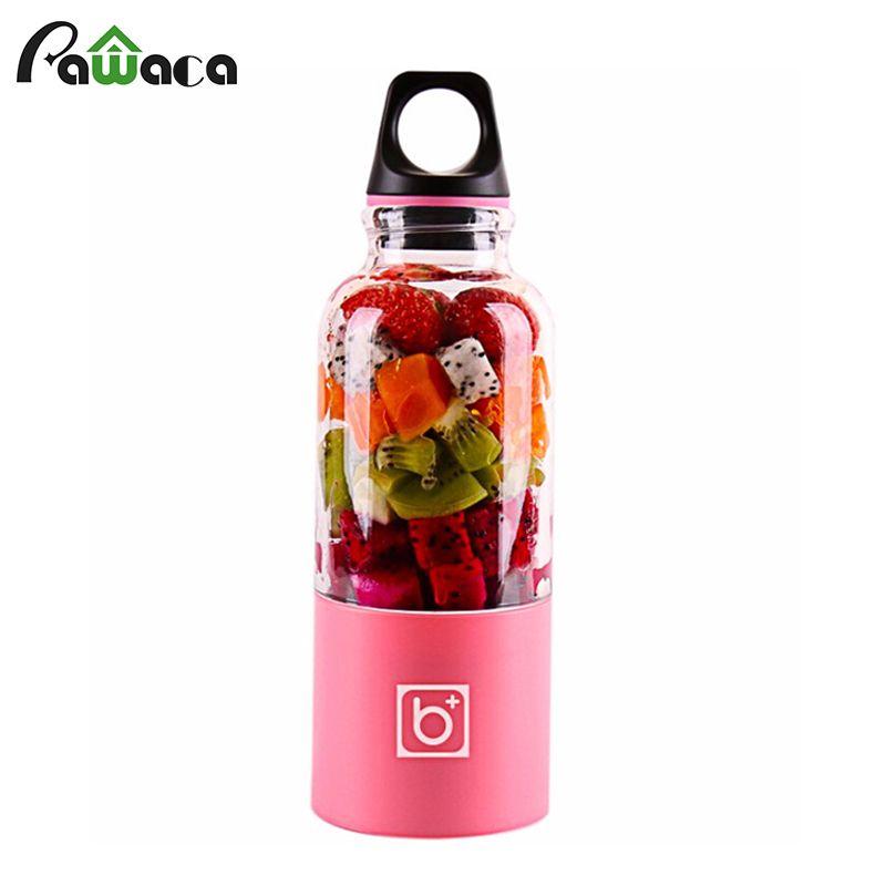 Portable USB Rechargeable Juicer Blender Electric Juicer Cup Juice Maker Shaker Squeezers Fruit Orange Juice Extractor 500ml