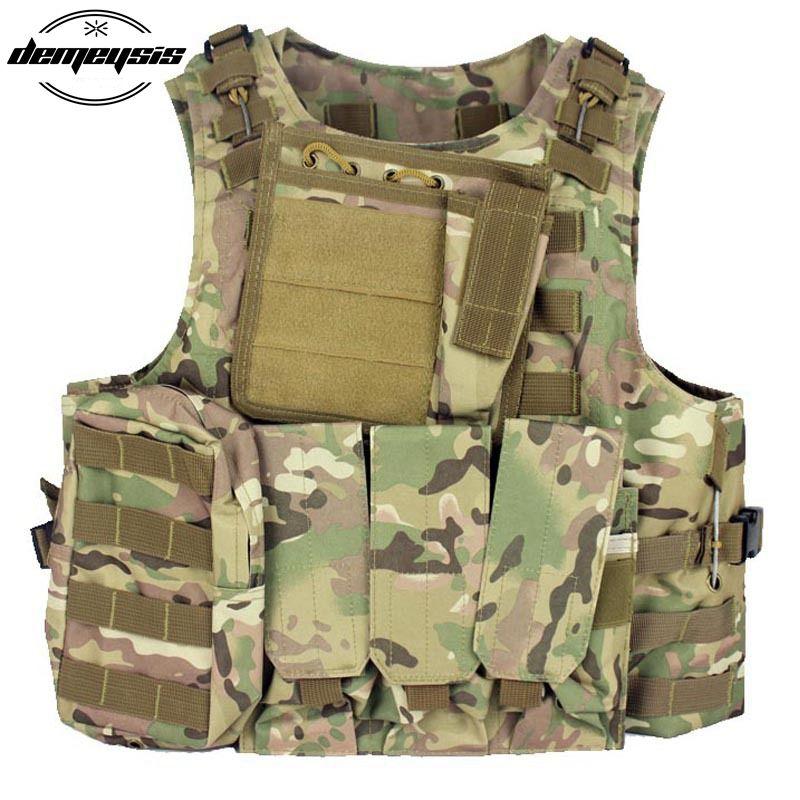 Militärische Taktische Weste CS Wargame Outdoor Ausrüstung Airsoft Platte träger Multicam Armee Molle Mag Ammo Brust Paintball Weste