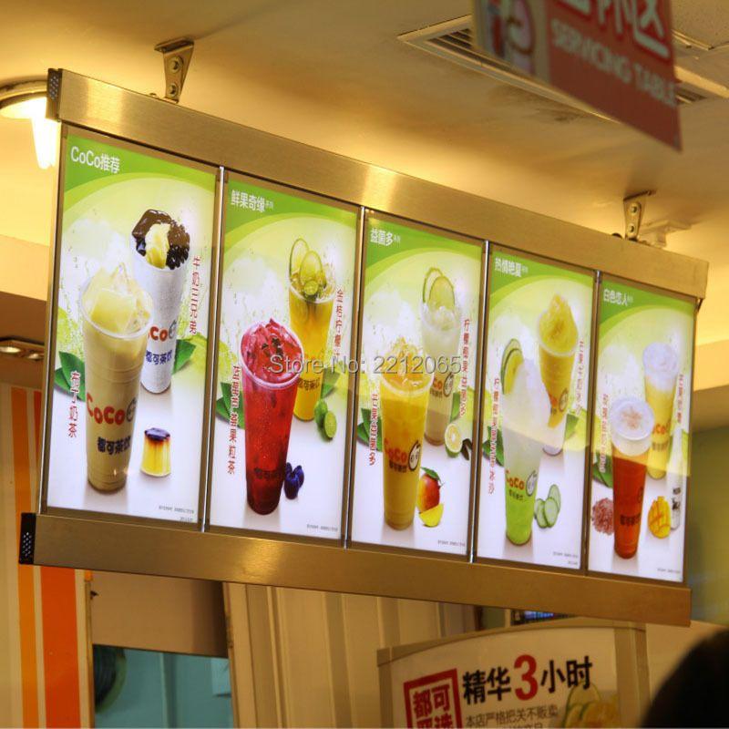(5 graphics/Column) Restaurant Led Menu Light Box, Hotel Led Menu Board(Single sided)