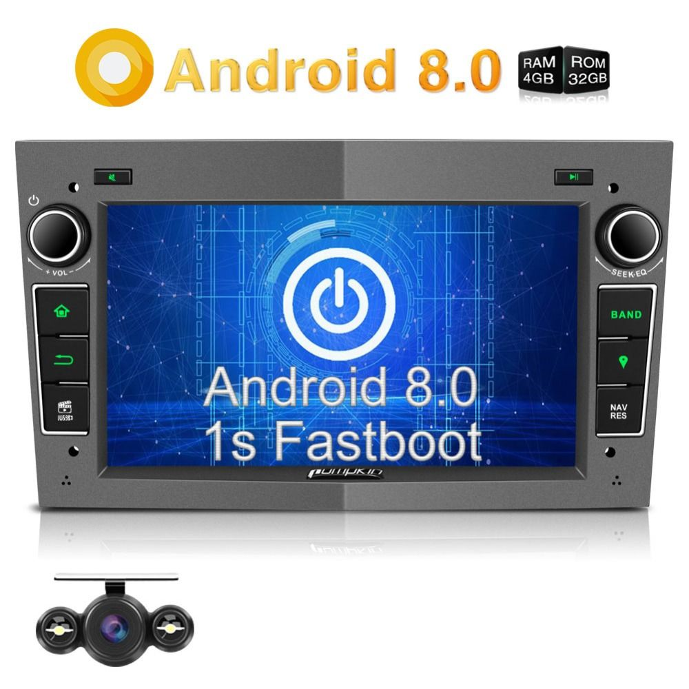 Pumpkin 2 Din Android 8.0 Car Radio No DVD Player GPS Navigation Qcta-core Car Stereo For Opel/Corsa/Vectra Wifi 4G USB Headunit