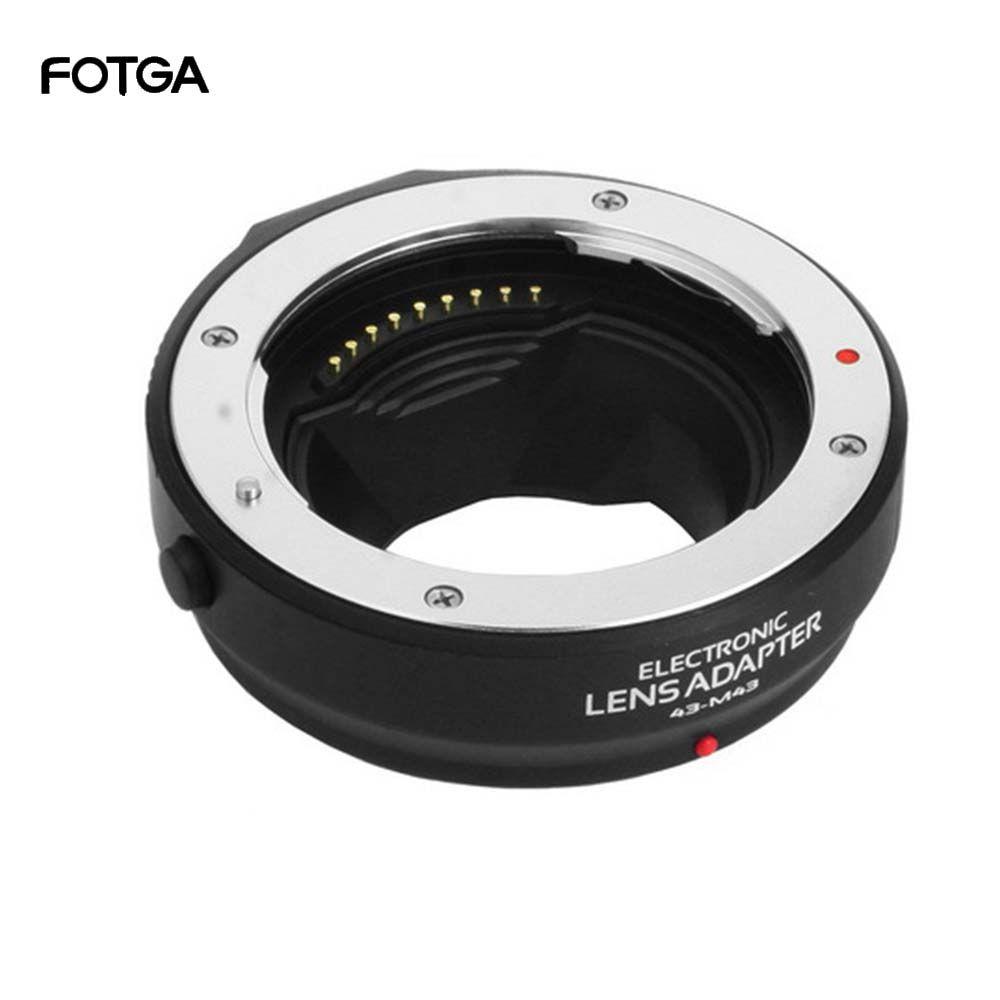Bague d'adaptation FOTGA Auto Focus pour objectif quatre tiers 4/3 vers Olympus Panasonic Micro 4/3 MMF3