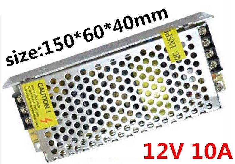 AC 120 W 10A DC12V Alimentation led Éclairage transformateur Tension le pour RGB Bande Lumière Pilote de Commutation d'alimentation lumière de Bande suply