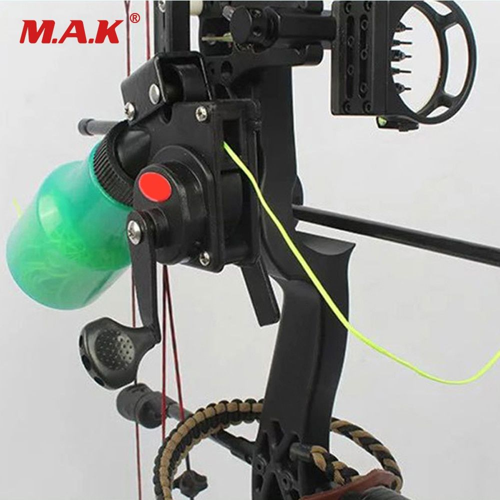 Bow Fishing Spincast Reel for Compound Bow and Recurve Bow Shooting Tool Fish Hunting Bow Fishing