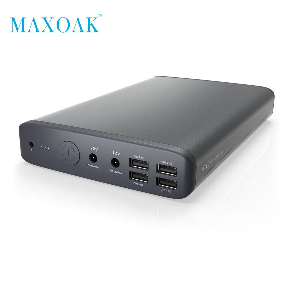 MAXOAK K2 laptop power bank DC 19V 5A/12V 2.5A Charge Ports External Battery Charger for Laptops Tablets cellphone