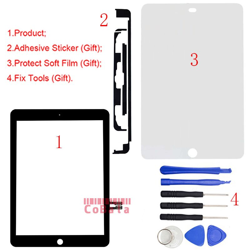1Pcs For iPad 9.7 (2018 Version) For iPad 6 6th Gen A1893 A1954 Touch Screen Digitizer Front Outer Panel Glass +Tools