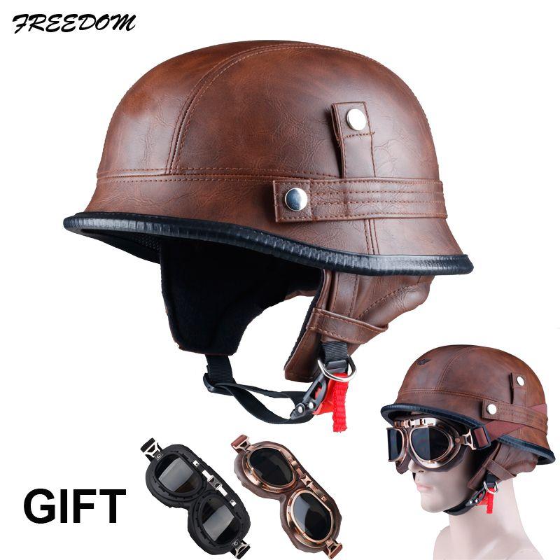 Casque moto rcycle LDMET demi-face vespa casque moto harley vintage rétro cascos para moto allemand à souder
