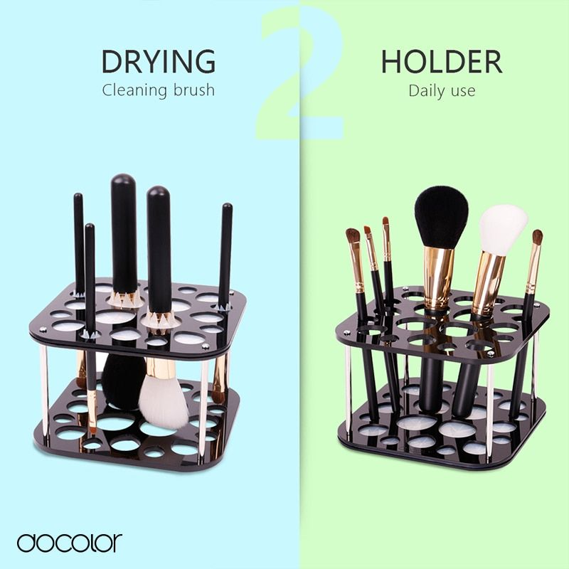 Docolor 2 in 1 brush holder makeup brush stand for drying and holder new design cosmetic tools make-up brush organizer Stand