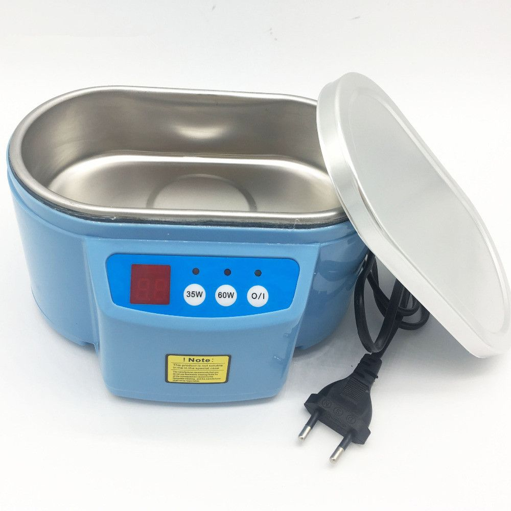 Hot 35W/60W 220V Mini Ultrasonic Cleaner Bath For Cleanning Jewelry Watch Glasses Circuit Board limpiador ultrasonico Bath EU