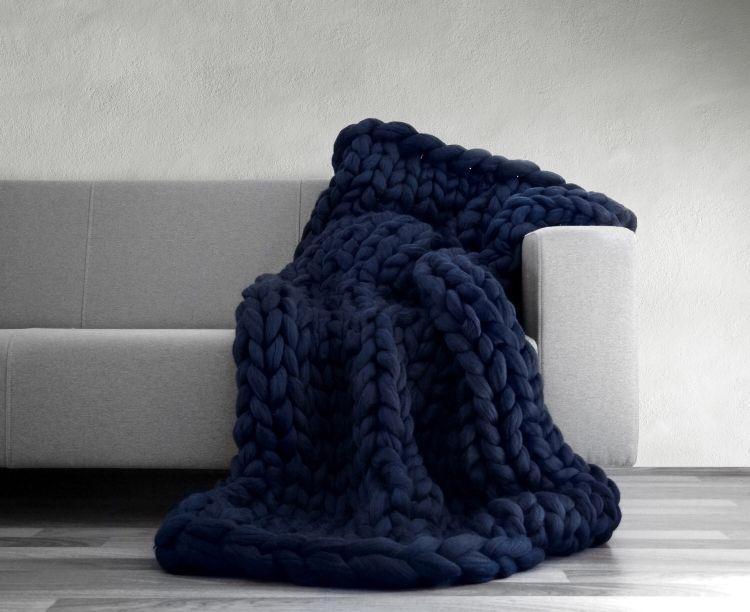 À tricoter Jet Couvertures Fil couverture tricotée à La Main tricoté Chaud Chunky Knit Pas Cher Couverture Encombrant Épaisse Canapé Jeter