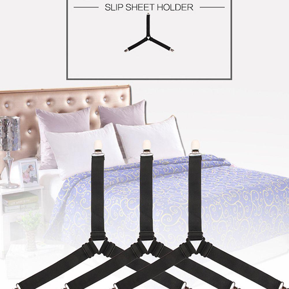 4 stücke Anti-skid Verschluss Halte Clip Tischdecken Bettdecken Blätter Feste Clips Schnalle Slip-beständig Gürtel
