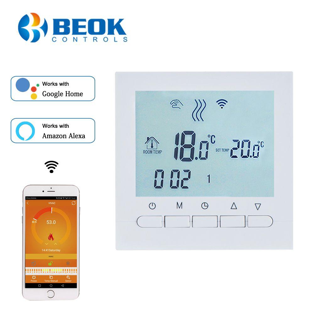 BEOK régulateur Programmable de température de chauffage de chaudière à gaz APP contrôle le Thermostat WIFI et le Thermostat de contrôle de main avec la serrure d'enfant