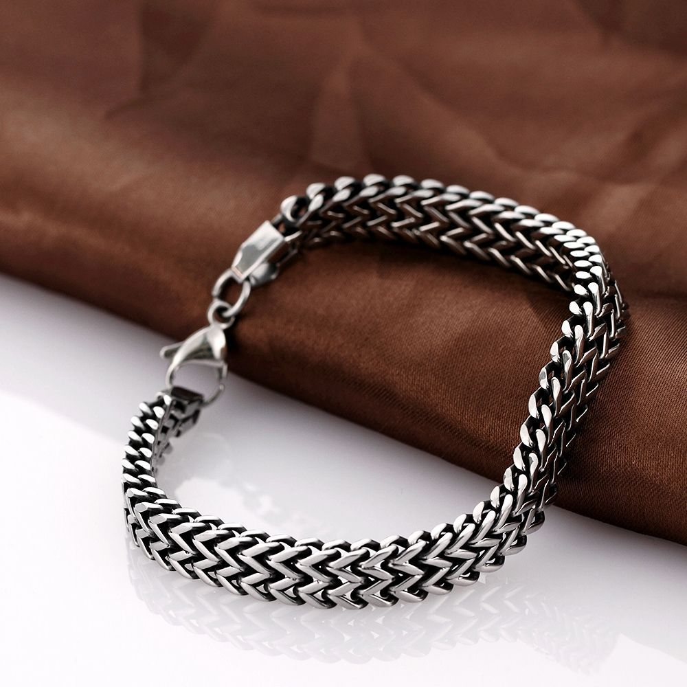 Haute qualité hommes bracelets serpent chaînes H024 mode 316L acier inoxydable bracelet pour homme
