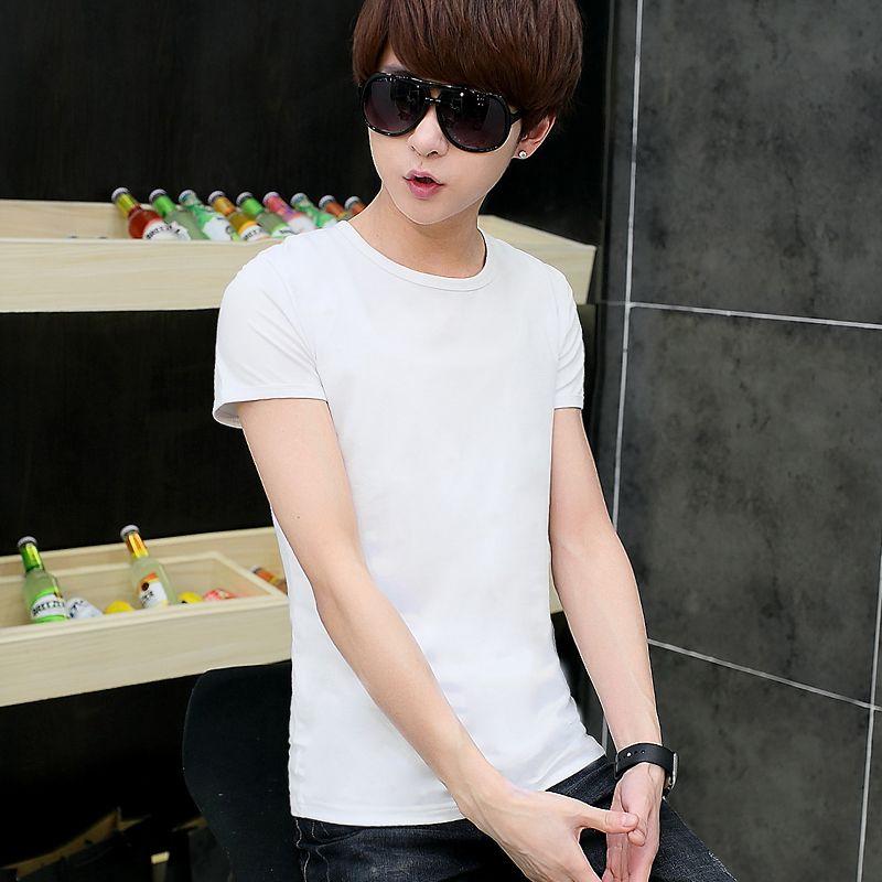Hommes à manches courtes T-shirt mâle impression col rond de chemise hommes de cultiver